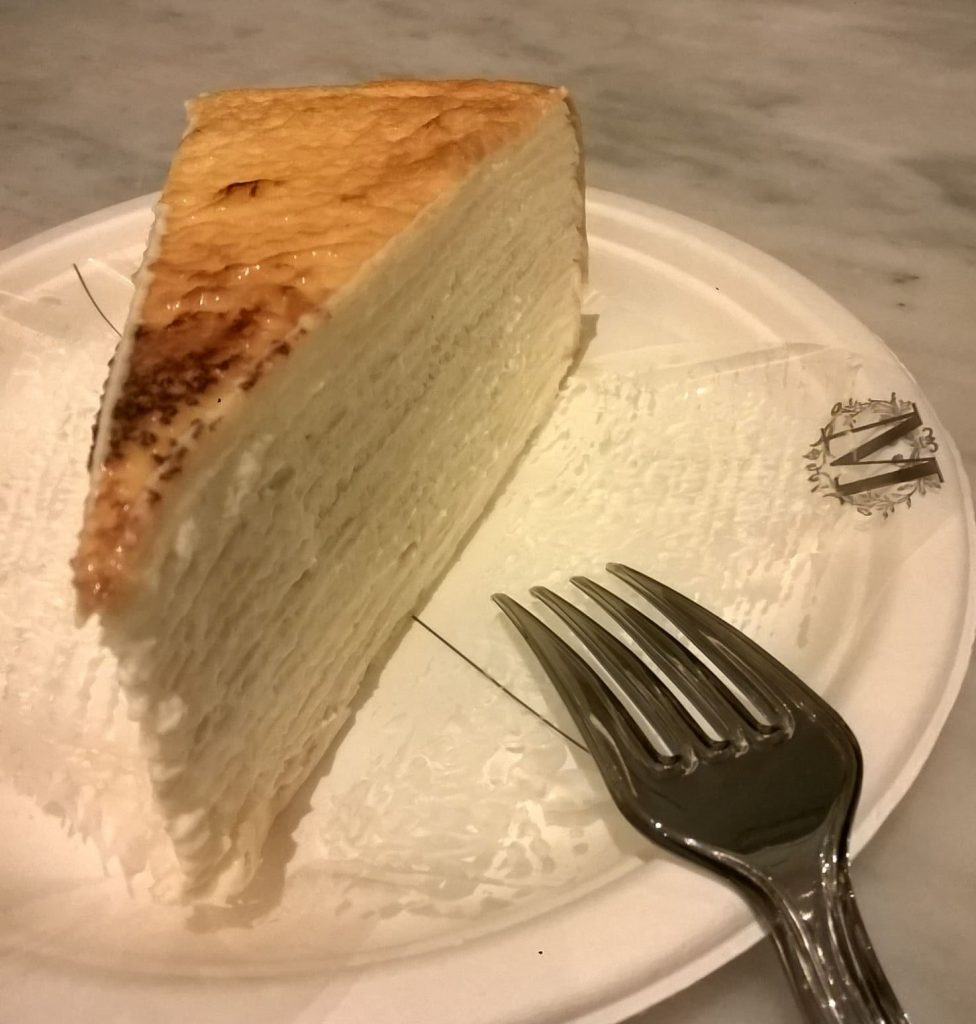 mille crepe, lady m's, the plaza hotel, new york, ny