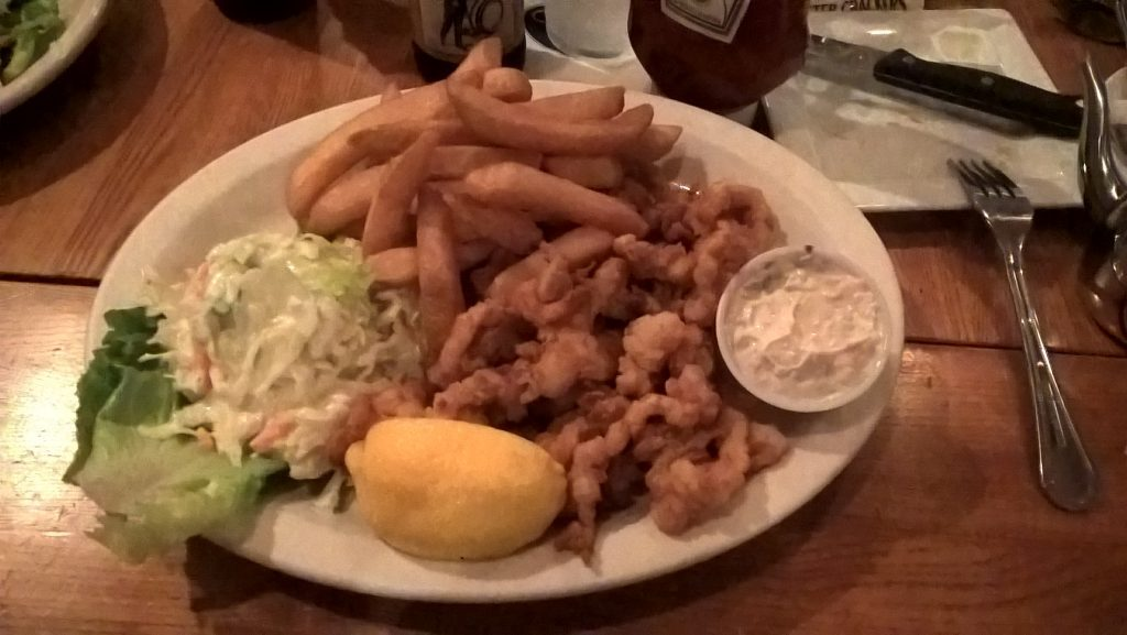 fried seafood platter, new england seafood feast