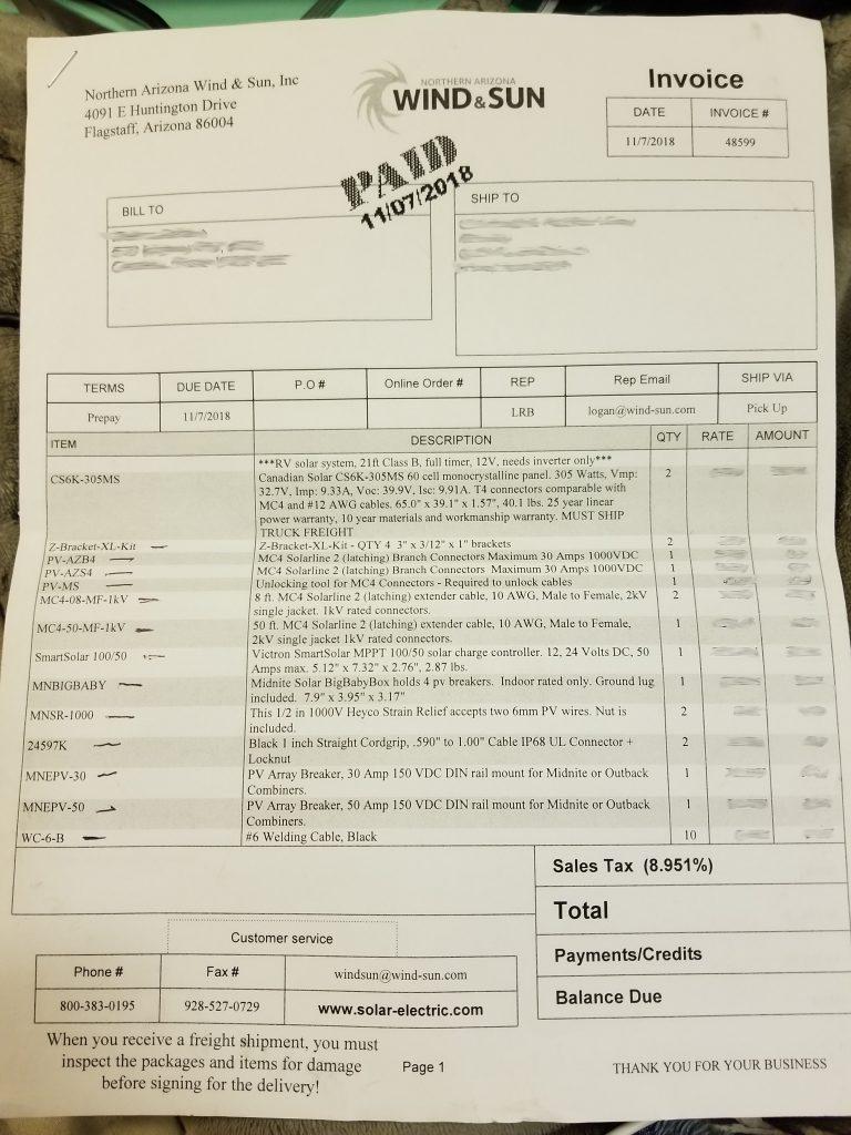 Solar Invoice 1